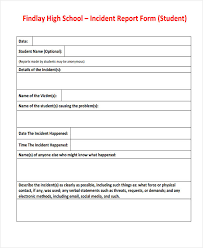 adverse event reporting form 39 free incident report templates free premium templates