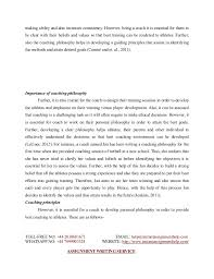 essay sample on coaching philosophy  4 making