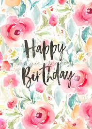 Happy Birthday Background Images Happy Birthday Background With Watercolor Flowers Flower Birthday