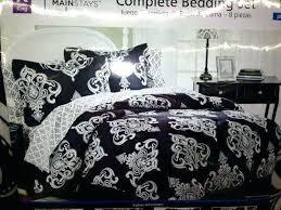 black white damask duvet cover and comforter print bedding home decor modern
