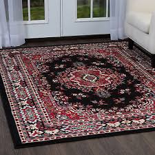 persian black area rug 4 x 6 small oriental carpet 69 actual 3 7 x 5 3 32 89 pic