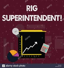 Handwriting Text Rig Superintendent Conceptual Photo Manage