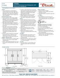true t 72 hc 78 three section solid door reach in refrigerator spec sheet