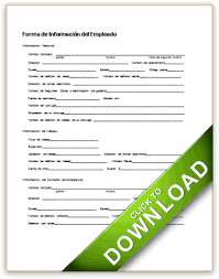 employment information sheet basic employment information spanish