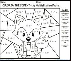 multiplication worksheets 4th grade coloring them and try to solve