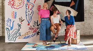 the brighton art project three designers three rugs
