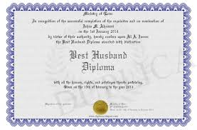 best husband diploma