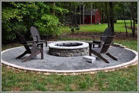 diy outdoor fire pit round