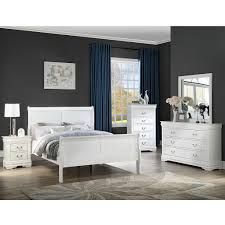 Crown Mark 3650 Louis Philip White Bedroom Set