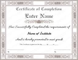 templates for certificates of completion certificate of completion templates free printable templates free