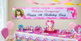 custom happy birthday banner custom my little pony birthday banners party city