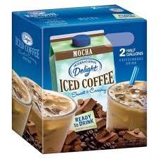 International delight mocha iced coffee 1/2 gal $3.67 ($0.06/oz) International Delight Mocha Iced Coffee 2 64 Oz Sam S Club