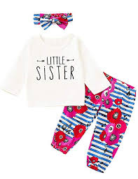 Just One You Size Chart Aslaylme Big Sister Little Sister Matching Outfits Floral Stripe Clothes Set
