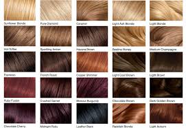 Garnier Color Naturals Shades Chart Hair Color Chart Shades Of Blonde Brunette Red Black In