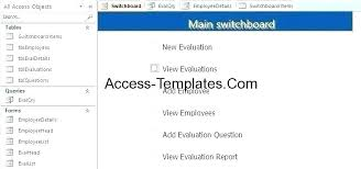 Free Employee Database Template In Excel Access Personnel Database Template