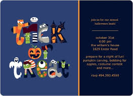 Trick Or Treat Monsters Halloween Card Halloween Invitations