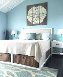 beach design bedroom. Exellent Bedroom Beach House Decor  U0027Meet Me Bye The Sea Vintage Sand Dollaru0027 I Love The  Wicker Baskets Under Bed Just Whole Bed Look Intended Design Bedroom C
