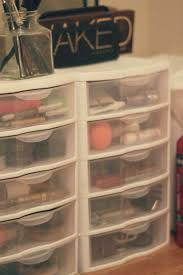 photo 1 of 7 5 use clear plastic conners with drawers to organize small items like hair thingakeup using clear