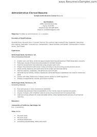 Clerical Assistant Sample Resume | Nfcnbarroom.com