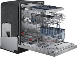 samsung chef collection dw80h9970us stainless open angled