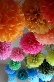 Tissue Paper Pom Poms. Tissue paper pom poms are some of most common DIY  party decoration ...