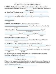 Basic Rental Agreement Template Basic Rental Agreement Form Free Printable Simple Lease