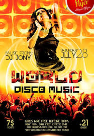 Free Music Poster Templates Free World Disco Music Psd Flyer Template Freebie