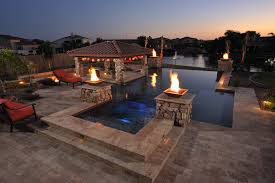 Outdoor Kitchen And Inspiration Idea Covered Outdoor Kitchens With Pool Pool
