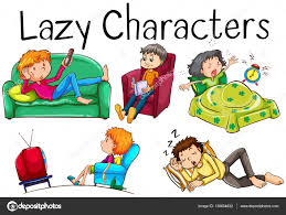boring people clipart. lazy people doing boring activities \u2014 stock vector #139604832 clipart