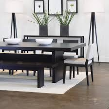 small dining room chairs. Dandy Cool Black Wood Stained Dining Table Bench Set With Pretty White Back And Cushion Chair On Shag Rug Flooring Room Interior Decorating Ideas Decorative Small Chairs O