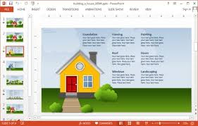power points template animated building a house powerpoint template