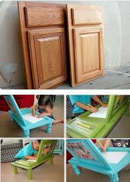 diy furniture makeover ideas. Cupboard Doors Turned Into A Child\u0027s Arts And Crafts Table Diy Furniture Makeover Ideas