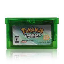 32 Bit Video Cartridge Console Pokemon Game Card Series  Emerald/Sapphire/Ruby/Leaf Green/Fire Red English Language US Version Game  Collection Cards