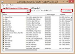 Address And Phone Number List How To Lookup Staff Contact Information From Microsoft Outlook