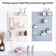 tool free multipurpose wall organizer shelf