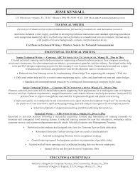 Sample Resume: Technical Writing Resume Sles