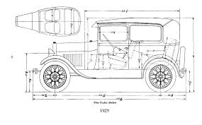 ford model a body dimensions motor hem 28 29 tudor sedan
