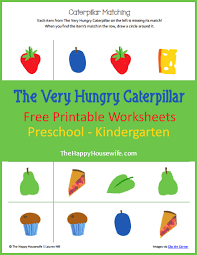 The Very Hungry Caterpillar Worksheets: Free Printables - The Happy ...