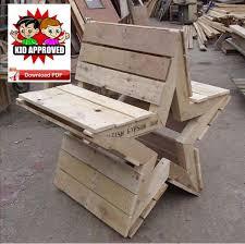 garden bench plan pallet bench plan