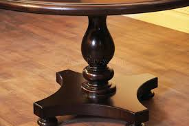 traditional turned column pedestal with bun feet