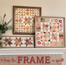 Skip the binding: frame that quilt! (tutorial + fabric giveaway ... & How-to-frame-a-quilt Adamdwight.com
