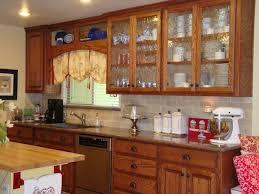 Vintage Glass Front Kitchen Cabinet