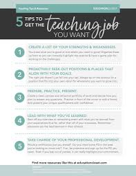 5 tips to get the teaching job you want educationcloset the pdf of this list