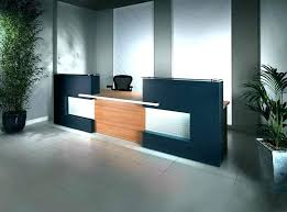 used office reception desk for front designs design simple but modern ideas furn