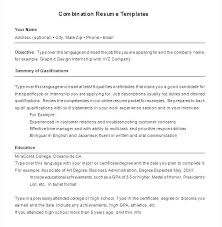 Combination Resume Templates Custom Download Sample Combination Resume Template Hybrid Free Literals