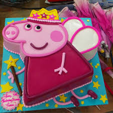 2225 Peppa Pig Shaped Birthday Cake With Cupcakes Abc Cake Shop