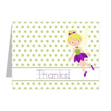 Blank Thank You Notes Purple Fairy Thank You Notes 6 Card Set
