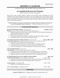 Restaurant Manager Job Description Resume 32474
