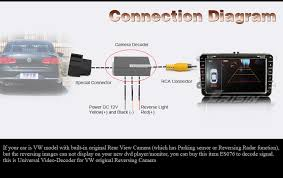 new for vw original car can bus decoder for rear view camera video new for vw original car can bus decoder for rear view camera video