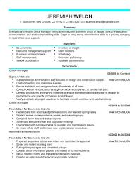 Resume Format For Back Office Executive It Resume Cover Letter